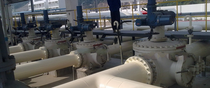 pigging ball valve on pipeline