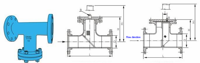 Straight flow T type strainers data sheet