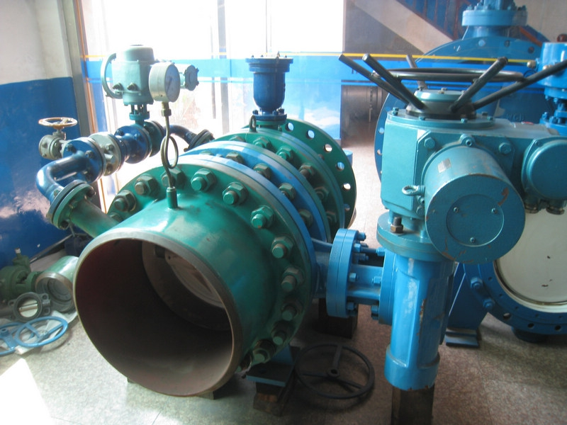 whole set hydraulic control water turbine inlet butterfly valves