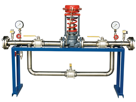Self operated pressure control valve