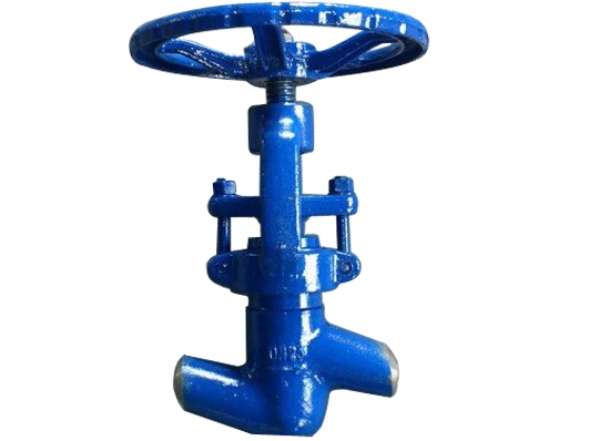 Low in high out power station globe valves
