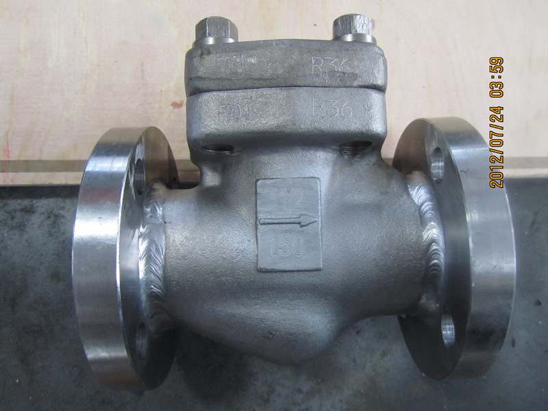 API 602 F904L Flanged Forged Check Valve
