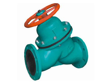 Rubber lined Straight type diaphragm valves