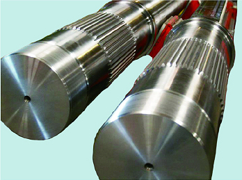 Main shaft for double shaft secondary shredder