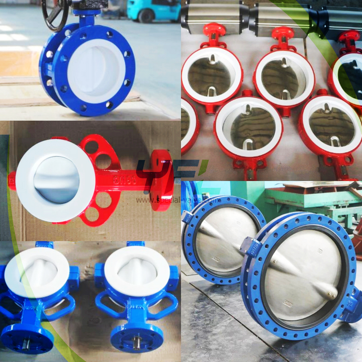 Lined PTFE butterfly valves