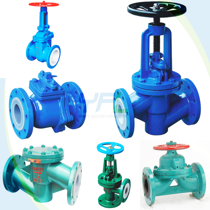 lined rubber valves
