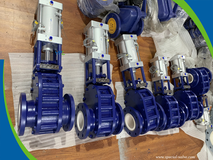 YFL Abrasion resistant Ceramic Double Disc Gate Valve for coal-fired power station
