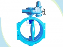 Double offset soft seal butterfly valves