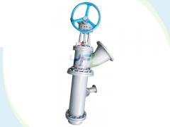 Long stem dumping valve for Al2O3