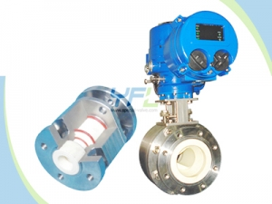Pneumatic V-port Ceramic Ball Valve