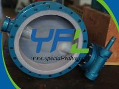 Flanged F46 Lined butterfly valve
