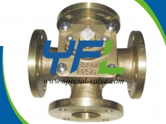 C95500 Four Way Plug Valve by YFL