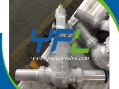 C12A Gate Valve Welded With Pipe