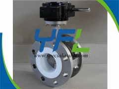CF8M Body Flanged Teflon Lined butterfly valve