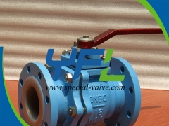 Lever Opearted PTFE Lined Ball Valve by YFL