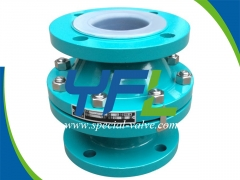 PFA Lined Ball Type Check Valve by YFL